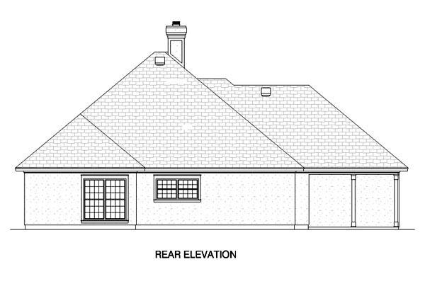 European House Plan 65760 Rear Elevation