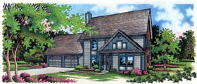 Traditional House Plan 65761 with 3 Beds, 3 Baths, 2 Car Garage Elevation