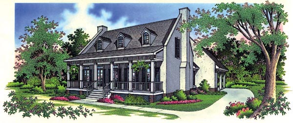 House Plan 65765 | Country Style Plan with 1770 Sq Ft, 3 Bedrooms, 2 Bathrooms, 2 Car Garage Elevation
