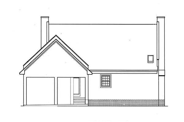 House Plan 65765 | Country Style Plan with 1770 Sq Ft, 3 Bedrooms, 2 Bathrooms, 2 Car Garage Rear Elevation