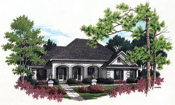 European House Plan 65766 Elevation
