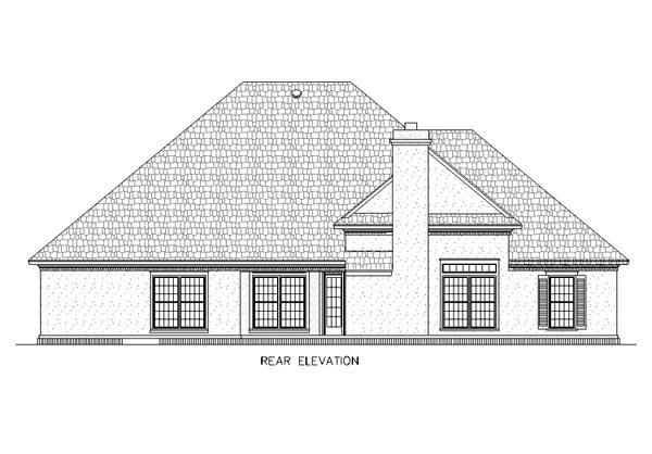 European House Plan 65766 Rear Elevation