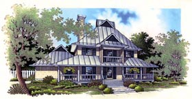 House Plan 65767 | Farmhouse Style Plan with 1872 Sq Ft, 3 Bedrooms, 4 Bathrooms, 2 Car Garage Elevation