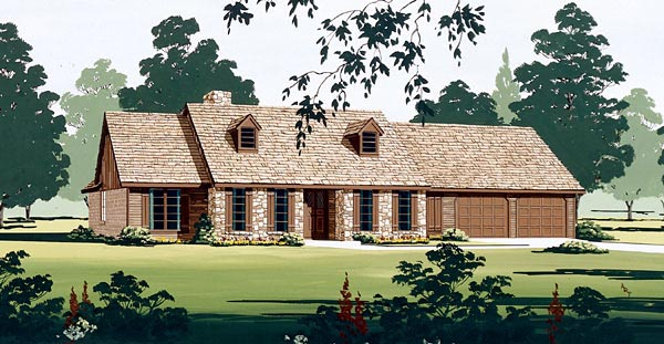 Ranch House Plan 65769 Elevation