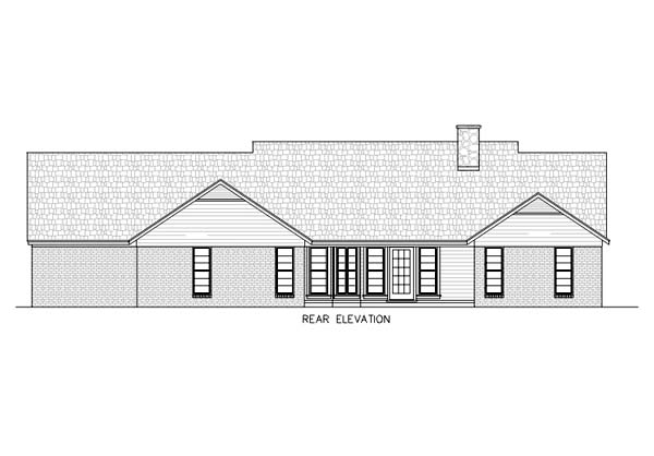 Ranch House Plan 65769 Rear Elevation