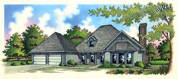 European House Plan 65771 Elevation
