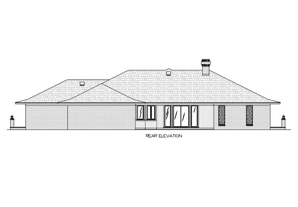 Traditional House Plan 65773 Rear Elevation