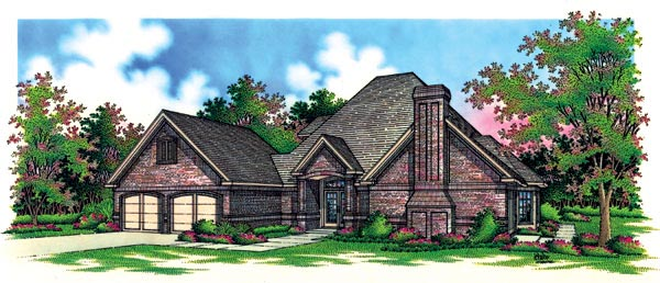 House Plan 65775 | European Style Plan with 2047 Sq Ft, 4 Bedrooms, 3 Bathrooms, 2 Car Garage Elevation