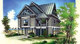Coastal House Plan 65776 Elevation