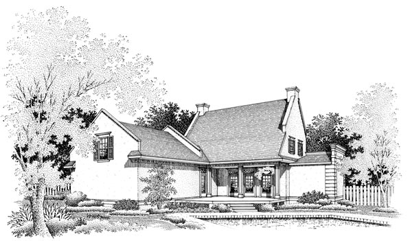 Cape Cod House Plan 65777 Rear Elevation
