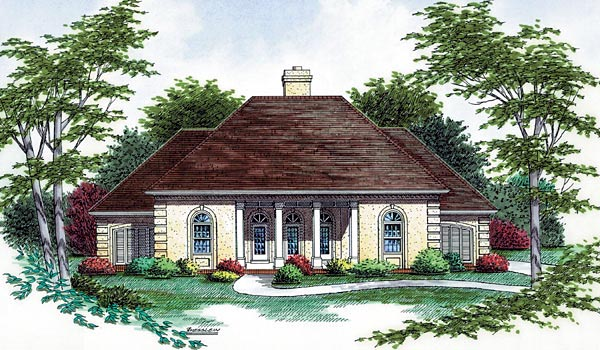 Colonial European House Plan 65778 Elevation