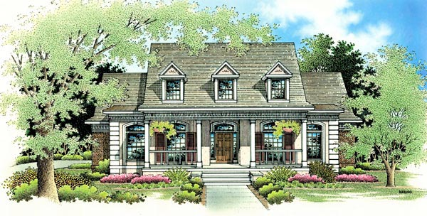 Country, One-Story House Plan 65779 with 3 Beds, 3 Baths, 2 Car Garage Elevation