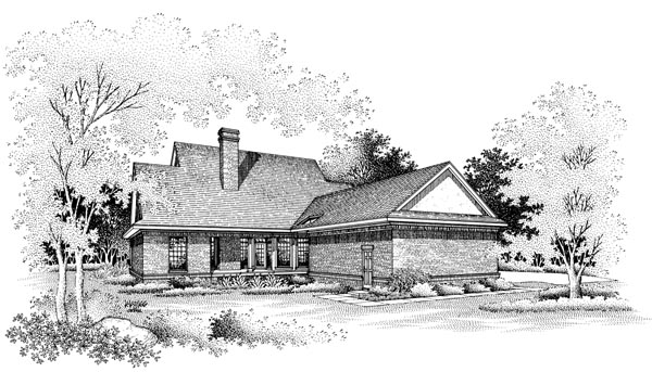 Country House Plan 65780 Rear Elevation