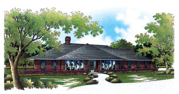 Contemporary One-Story Elevation of Plan 65781
