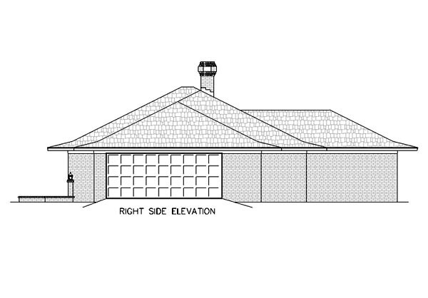 Contemporary, One-Story House Plan 65781 with 4 Beds, 2 Baths, 2 Car Garage Picture 2