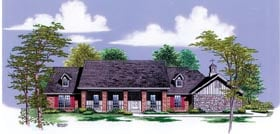 Farmhouse House Plan 65782 with 4 Beds, 3 Baths, 2 Car Garage Elevation