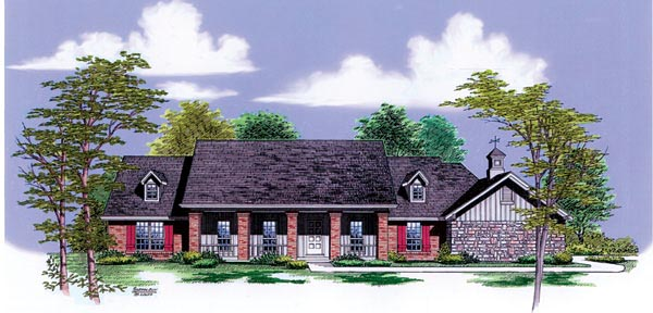 Farmhouse House Plan 65782 Elevation