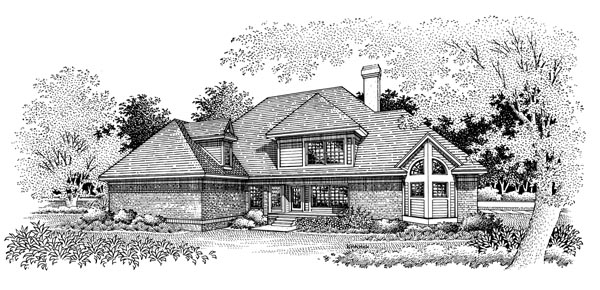 Victorian House Plan 65783 with 4 Beds, 4 Baths, 2 Car Garage Rear Elevation
