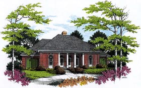 European House Plan 65784 Elevation