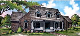 European House Plan 65786 with 3 Beds, 3 Baths, 2 Car Garage Elevation