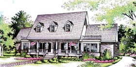 House Plan 65788 | Country Style Plan with 2360 Sq Ft, 3 Bedrooms, 3 Bathrooms, 2 Car Garage Elevation