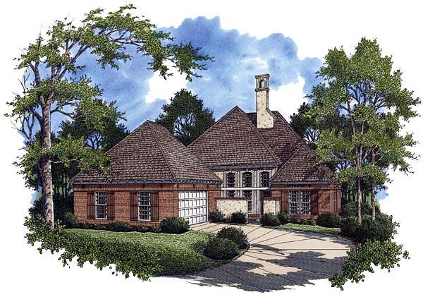 European House Plan 65789 Elevation