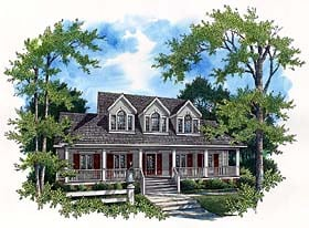 Country House Plan 65790 with 4 Beds, 4 Baths, 2 Car Garage Elevation