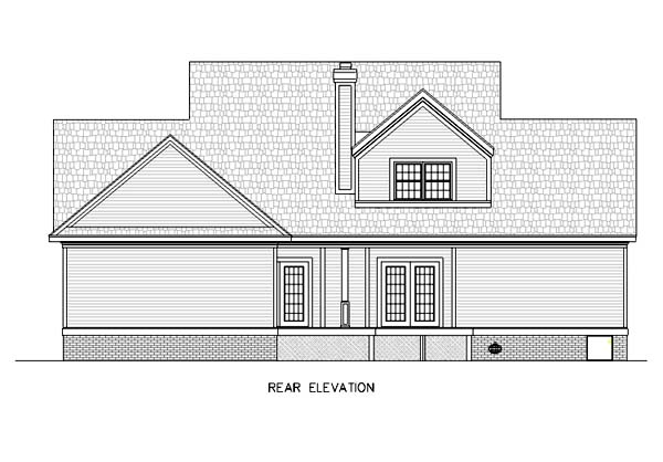 Country House Plan 65790 Rear Elevation