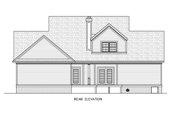 Country House Plan 65791 Rear Elevation