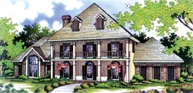 Colonial House Plan 65792 Elevation
