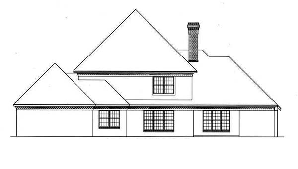 Colonial House Plan 65792 Rear Elevation
