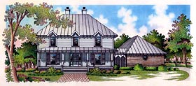 House Plan 65793 | Country Style Plan with 2651 Sq Ft, 5 Bedrooms, 2 Bathrooms, 3 Car Garage Elevation