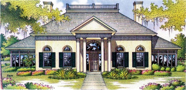 Colonial House Plan 65796 Elevation