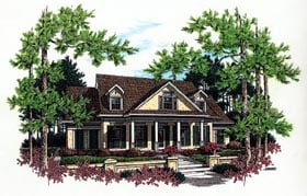Country House Plan 65797 with 3 Beds, 3 Baths, 2 Car Garage Elevation