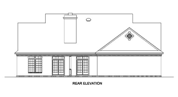Country House Plan 65797 with 3 Beds, 3 Baths, 2 Car Garage Rear Elevation