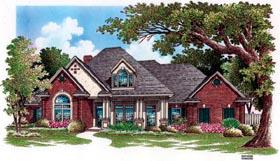 European House Plan 65799 Elevation