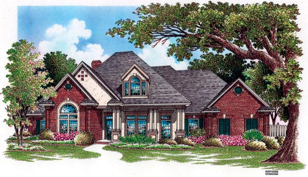 European House Plan 65799 Elevation
