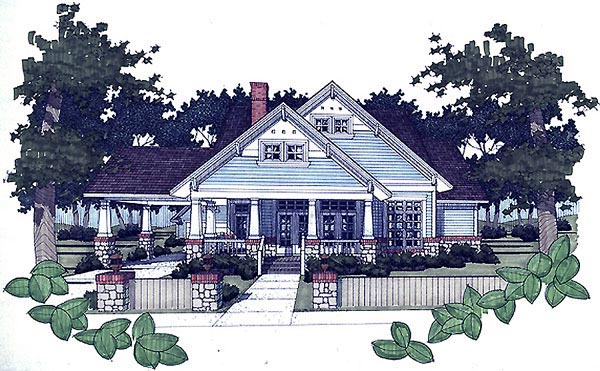 Bungalow House Plan 65800