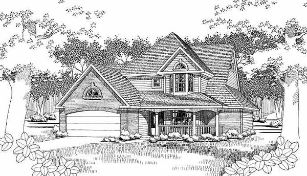 House Plan 65807 Elevation
