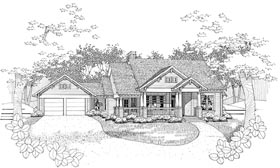House Plan 65808 | Traditional Style House Plan with 1815 Sq Ft, 3 Bed, 2 Bath, 2 Car Garage Elevation