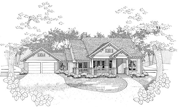 Traditional , Elevation of Plan 65808