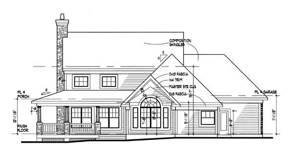 Farmhouse House Plan 65812 Rear Elevation