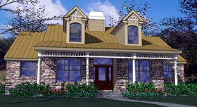Country House Plan 65814 with 3 Beds, 2 Baths, 2 Car Garage Elevation