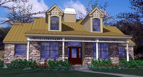 Country House Plan 65814 Elevation
