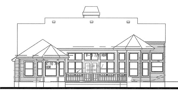 Country House Plan 65814 Rear Elevation