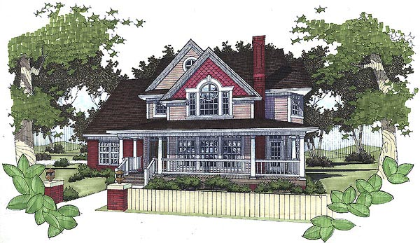 Victorian House Plan 65815 Elevation
