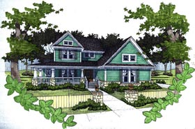 Country House Plan 65818 with 3 Beds, 2.5 Baths, 2 Car Garage Elevation