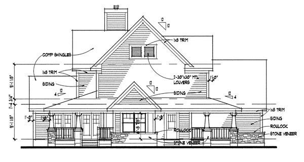Country House Plan 65818 with 3 Beds, 2.5 Baths, 2 Car Garage Picture 1