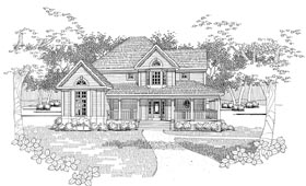 Farmhouse House Plan 65819 with 3 Beds, 2 Baths Elevation