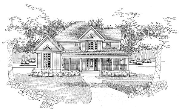 Farmhouse House Plan 65819 Elevation